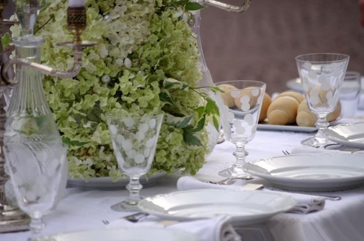 Allestimento cena in bianco a Monza 13
